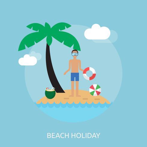conception illustration illustration de vacances à la plage vecteur