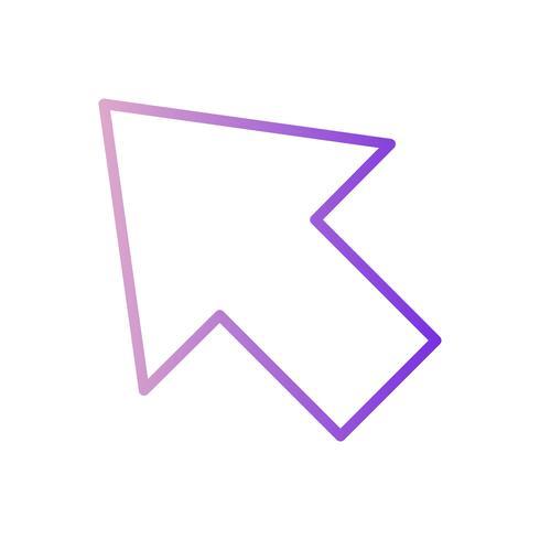 Ícone do cursor do vetor