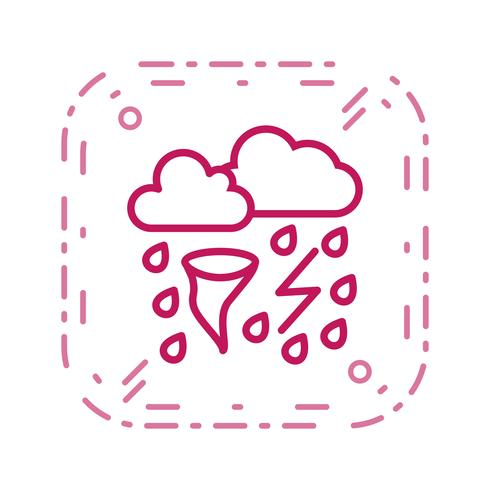 Icono de Vector de mal tiempo