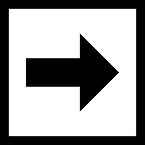 Icono de Vector derecho