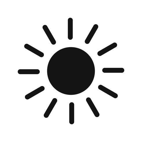 sol vektor ikon