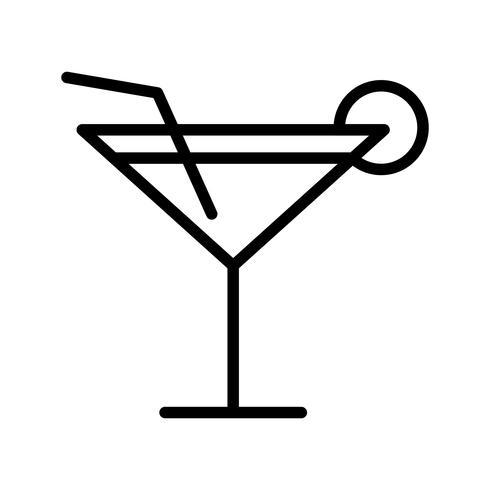 Icona del cocktail vettoriale