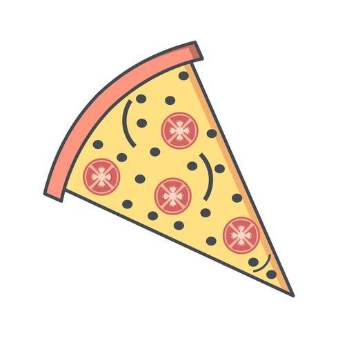 Icône de pizza de vecteur