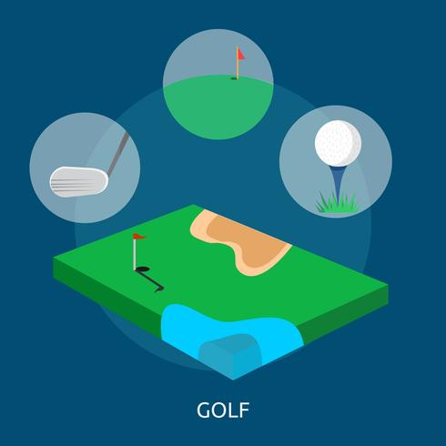 Golf Konceptuell illustration Design
