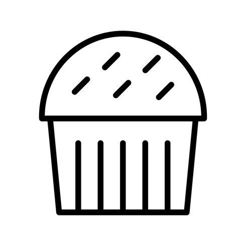 vektor cupcake ikon