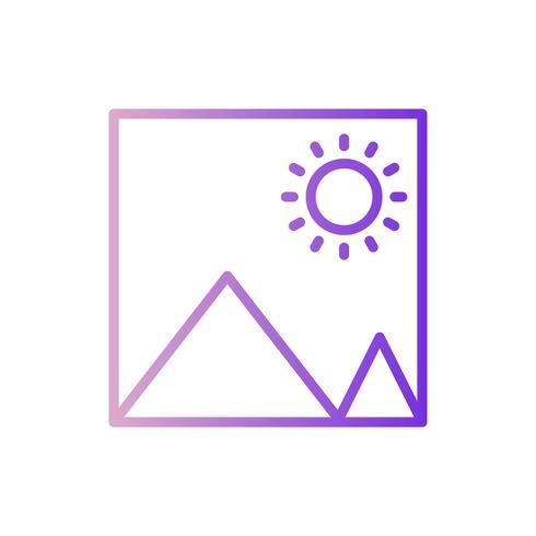 Vector icono de imagen