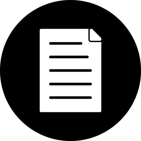 Icône de document de vecteur