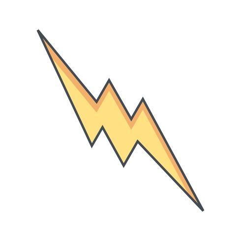 Bliksem knop vector pictogram