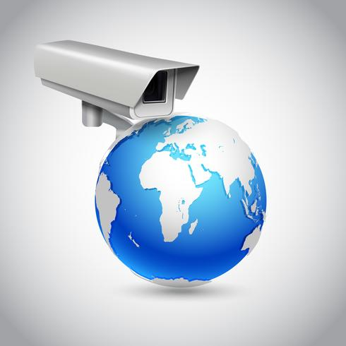 Global surveillance concept vector