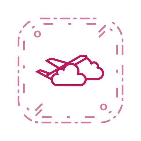 Icono de Vector de nube plana