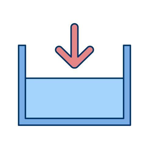 Icône de vecteur au-dessous du niveau de la mer