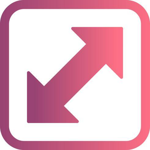 Dubbel pil vektor ikon
