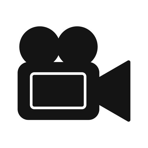 Vector icono de cámara de video