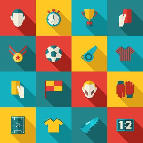 Fußball-Ikonen flach