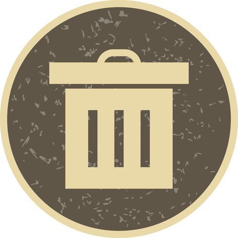 vektor papperskorgen ikon