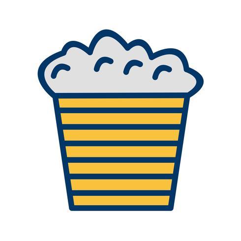 Vektor-Popcorn-Symbol