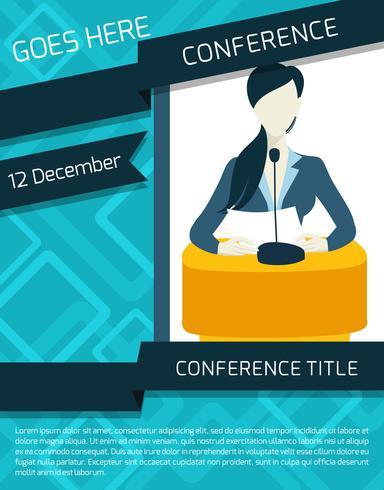 Conferentie aankondiging sjabloon vector