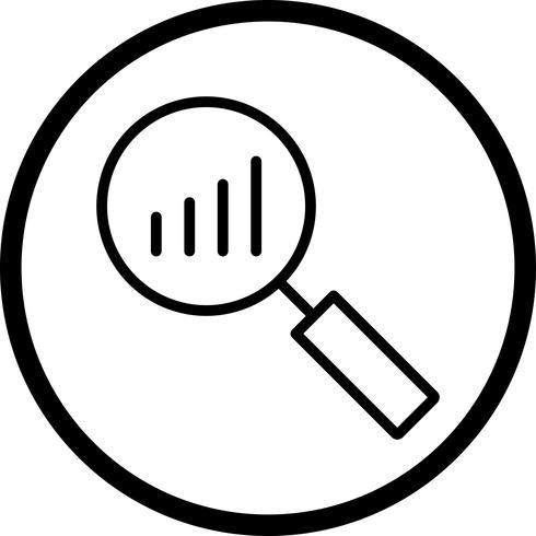 Icono de análisis vectorial