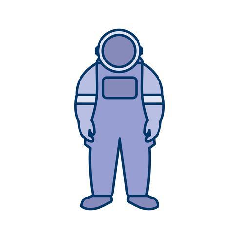 Ícone de vetor de traje espacial