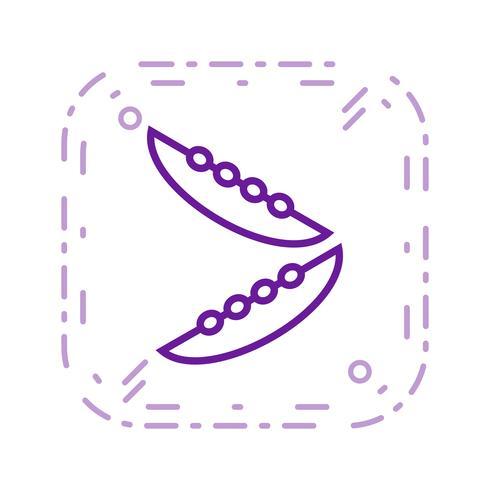 Vector icono de frijoles