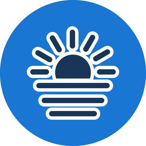 Sunset Vector Icon