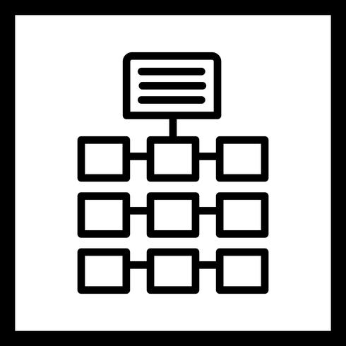Vektor-Netzwerk-Symbol