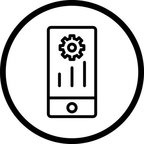 Icona di marketing mobile vettoriale