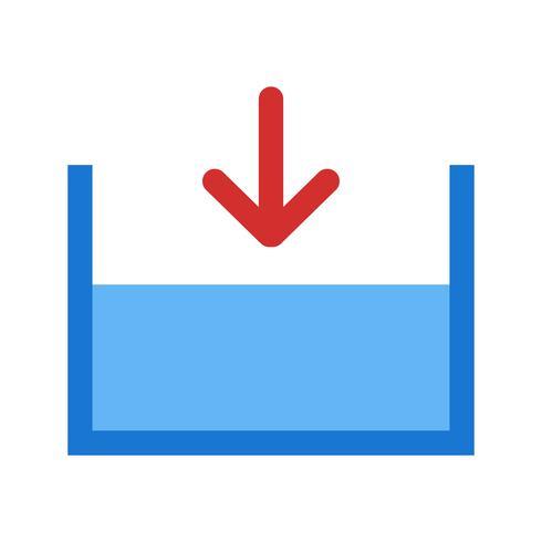 Sotto l'icona del vettore del livello del mare