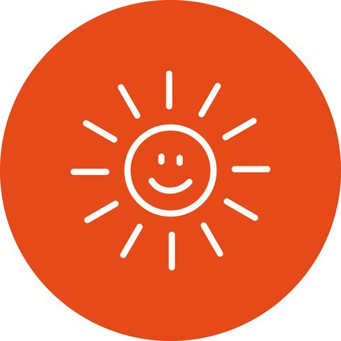 Sol sorrindo ícone Vector