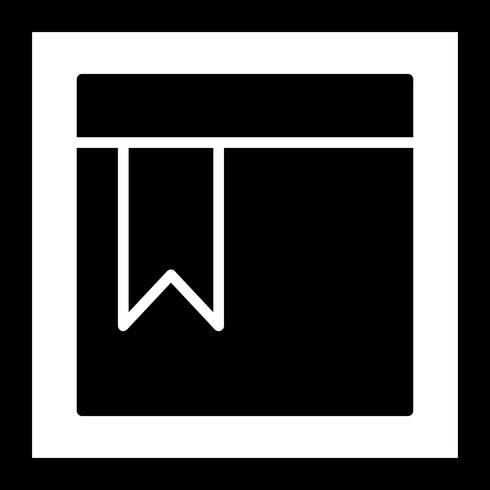 Icône de page signet vecteur