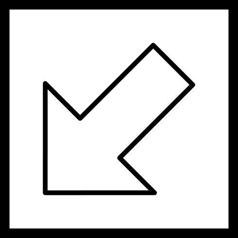 Izquierda Abajo Vector Icon