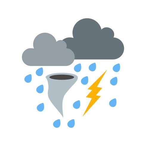 Schlechtes Wetter-Vektor-Symbol