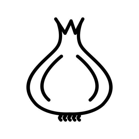 Vektor-Zwiebel-Symbol