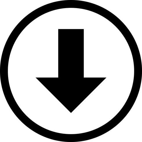 Vector pictogram omlaag