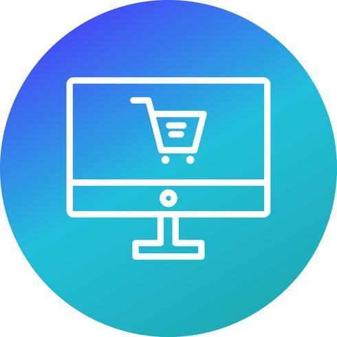 Ícone de compras on-line de vetor