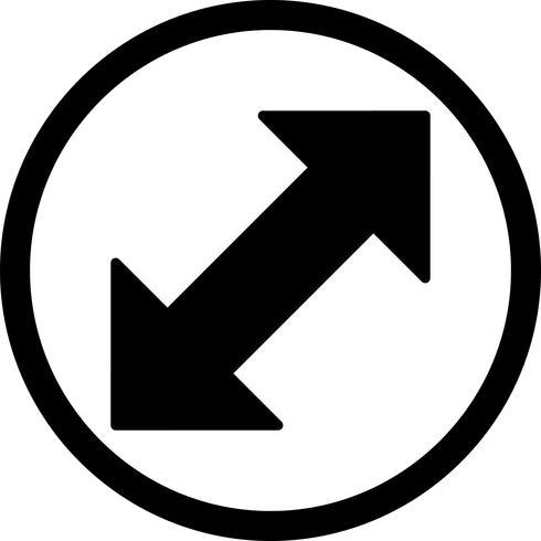 Icona di vettore doppia freccia