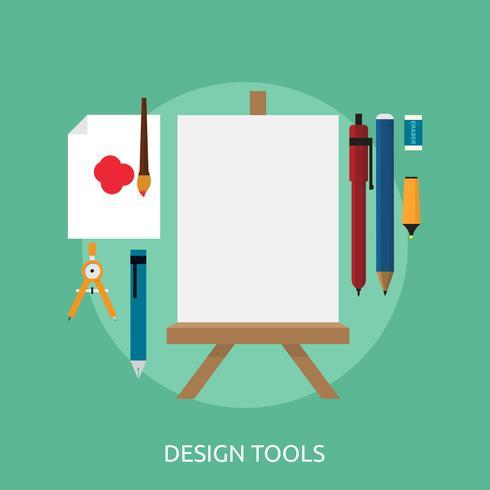 projeto de ilustração conceitual de ferramentas de design vetor
