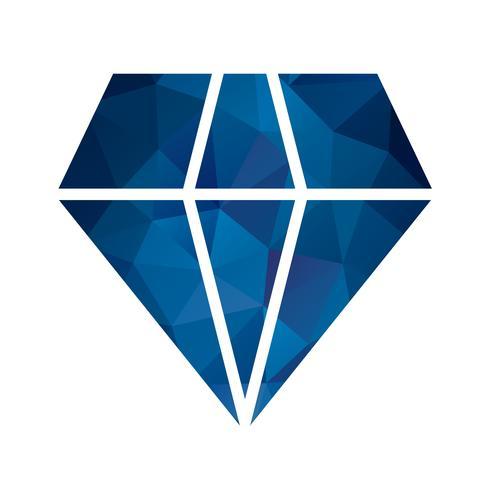 Vector icono de diamante