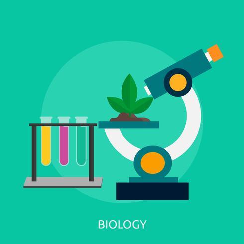 Biología Conceptual Ilustración Diseño. vector