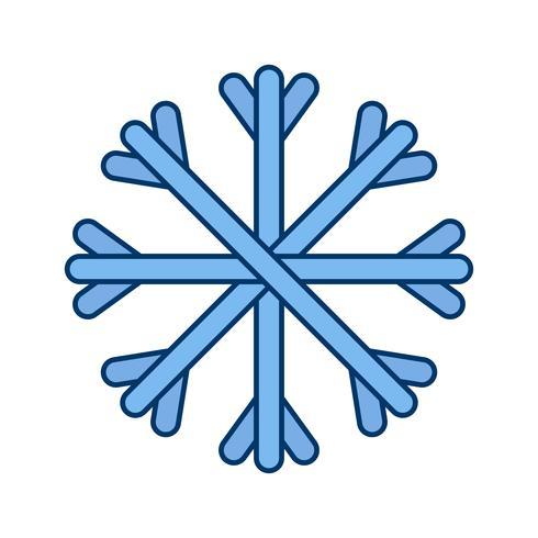Schnee-Vektor-Symbol vektor