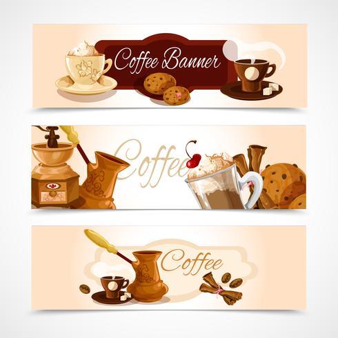 Kaffebannor horisontella vektor