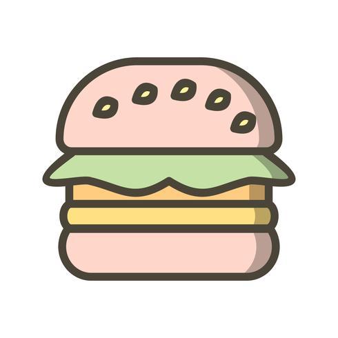 Ícone de hambúrguer de vetor