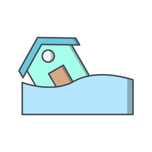 Flut Symbol Vektor Icon