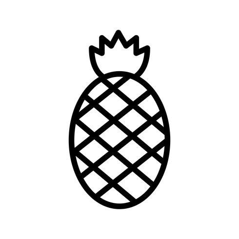 Icône d'ananas de vecteur