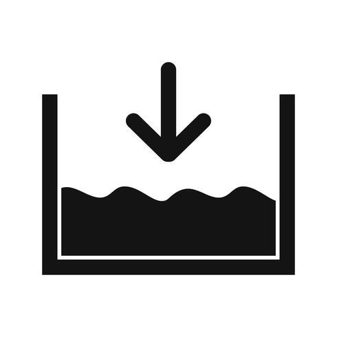 Abaixo do nível do mar Vector Icon