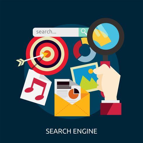 Suchmaschinen-Konzeptionelle Illustration Design