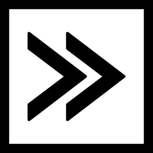 Ícone de vetor para a frente