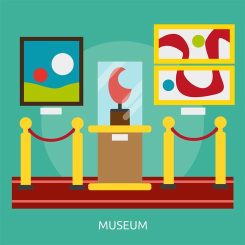 Disegno dell'illustrazione concettuale del museo