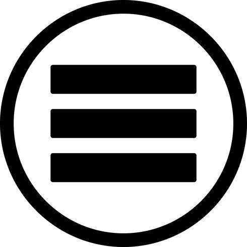 Menu Vector ícone