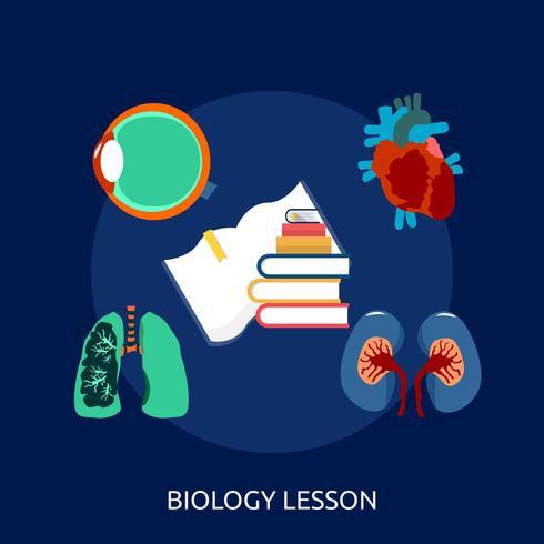 Biologielektion konzeptionelle Illustration Design